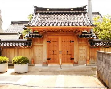 寺院の門改修工事